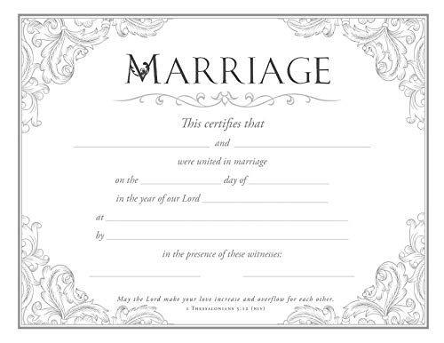 Wedding Cert Coventional Design