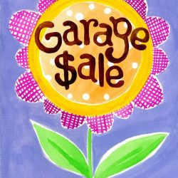 Garage+Sale+Garden+flag