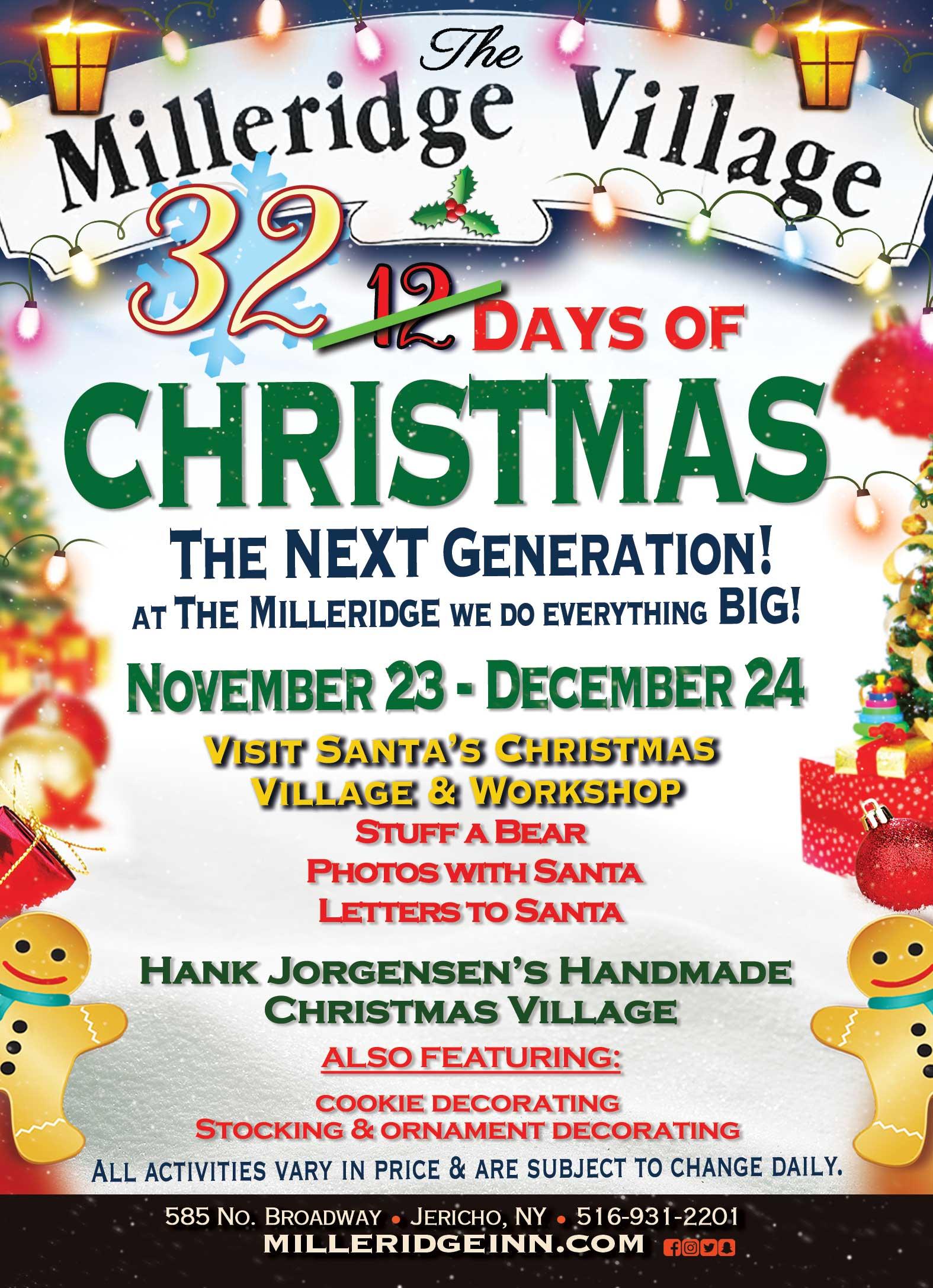 Milleridge Inn Christmas Village 2018.Milleridge Village 32 Days Of Christmas Pennysaver