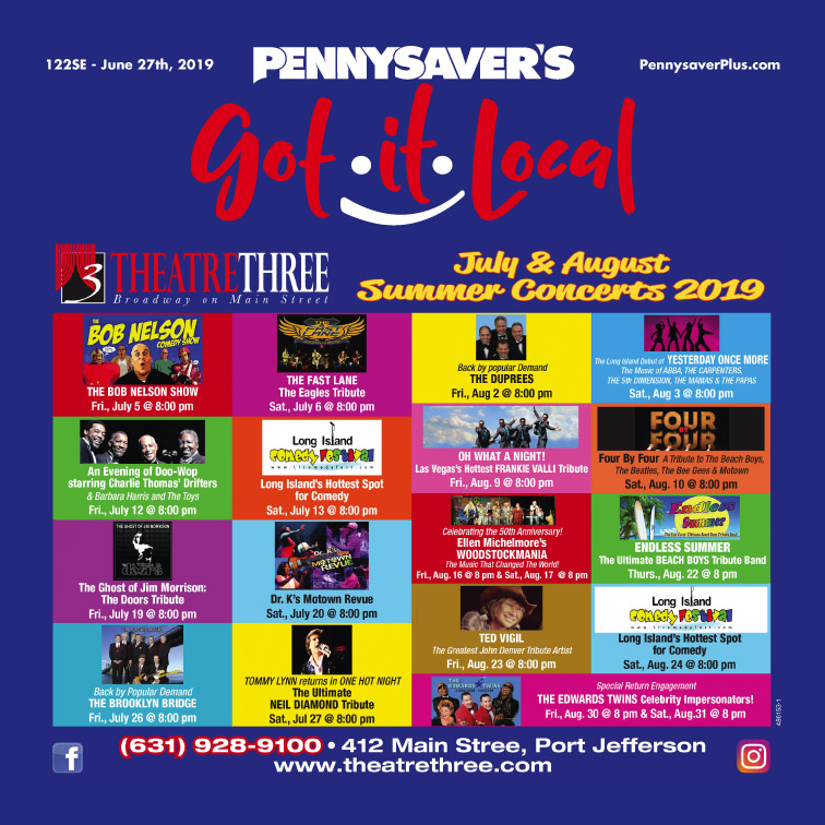 Theatre Three Summer Schedule - Pennysaver | Coupons & Classifieds